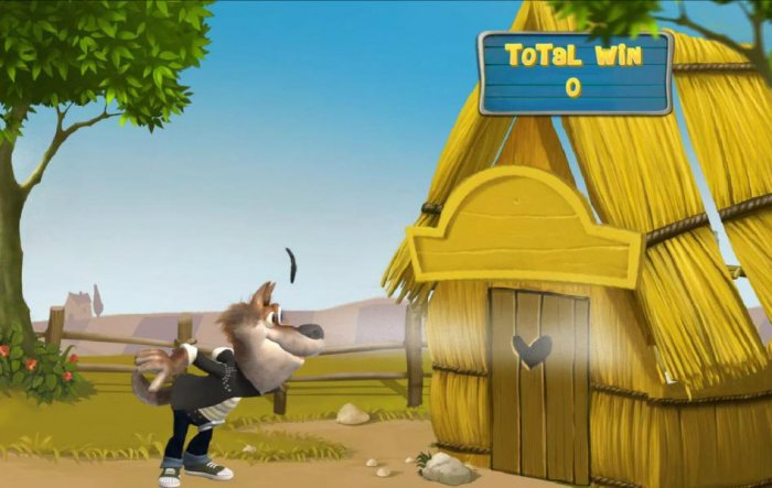 The wolf goes through his warmup moves and proceeds to blow the house down. by All Online Pokies