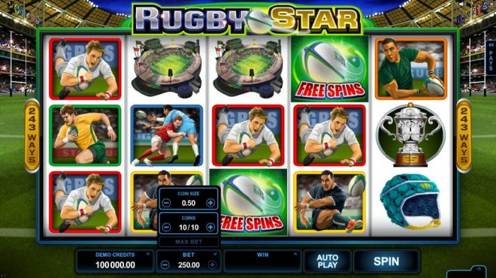Click the arrow on the BET button to adjust the coin size and coins played. by All Online Pokies
