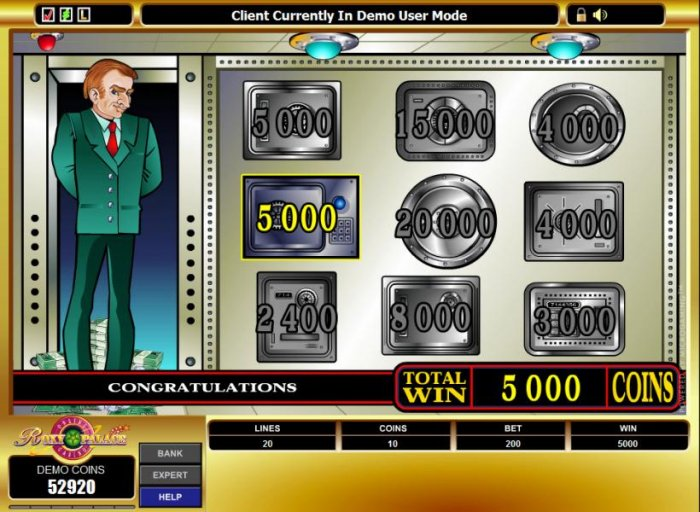 All Online Pokies - you won 5000 coins during the bonus feature