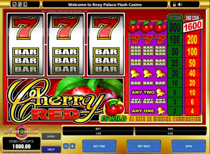All Online Pokies image of Cherry Red