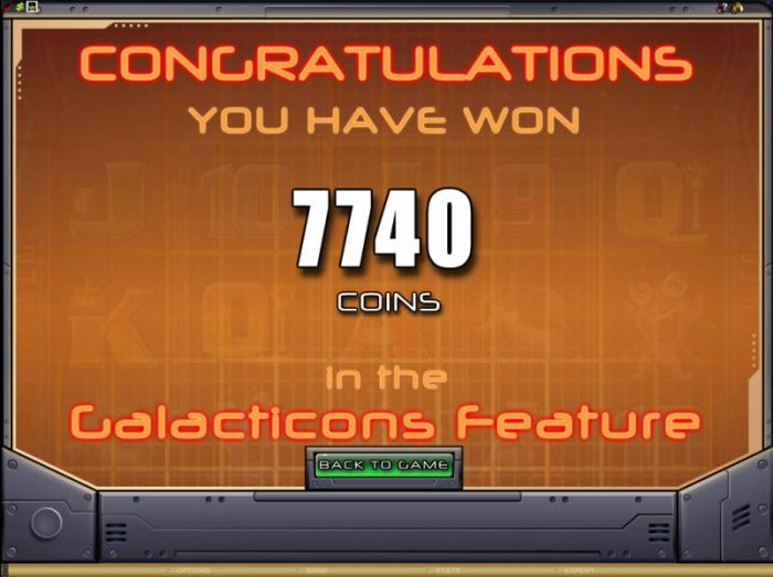 the Big Bang Feature paid out 7740 coins for a big win by All Online Pokies