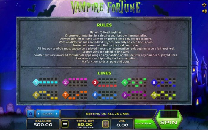 Vampire Fortune screenshot