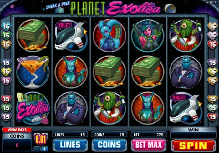Planet Exotica by All Online Pokies
