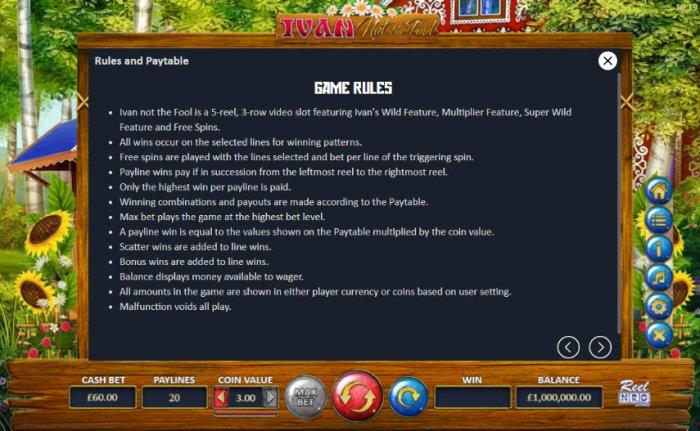 All Online Pokies - General Game Rules