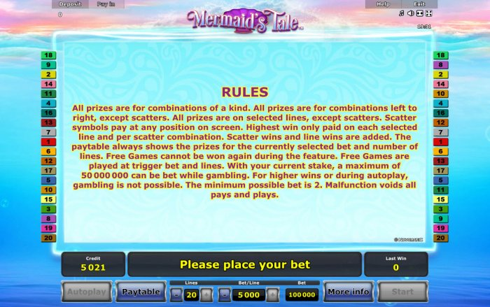 All Online Pokies image of Mermaid's Tale