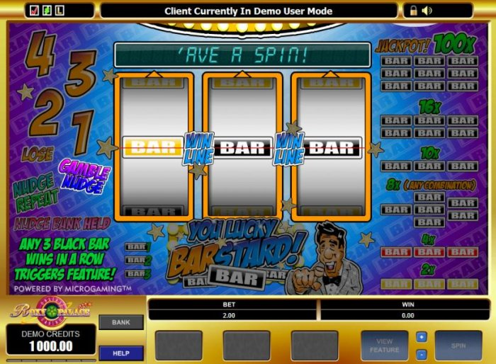 All Online Pokies image of You Lucky Barstard