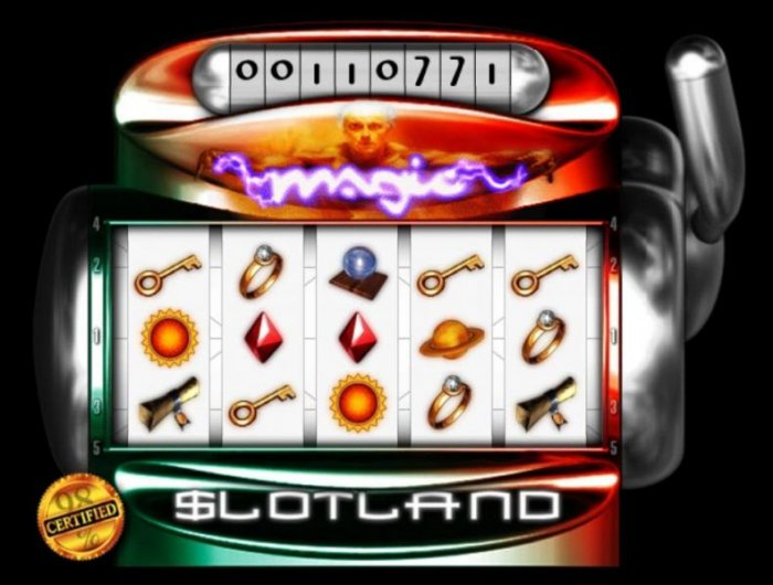 All Online Pokies - Main game board featuring five reels and 5 paylines