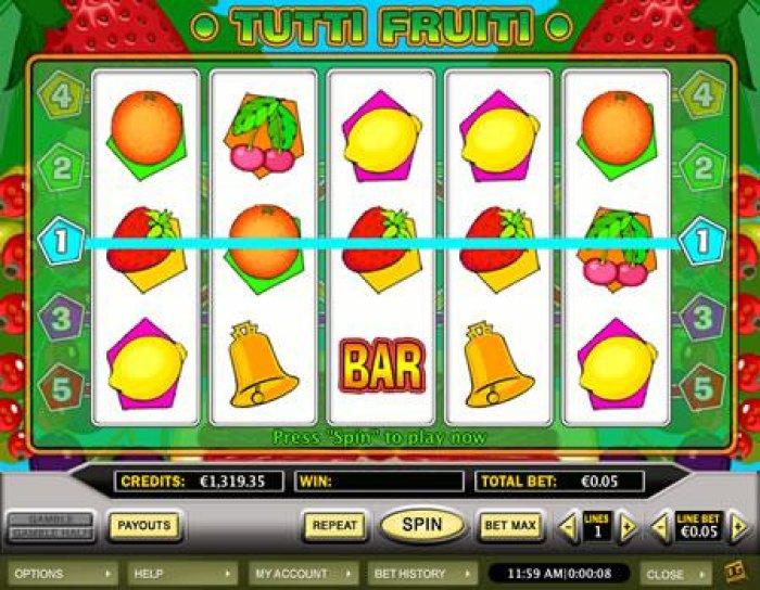 Tutti Fruiti by All Online Pokies