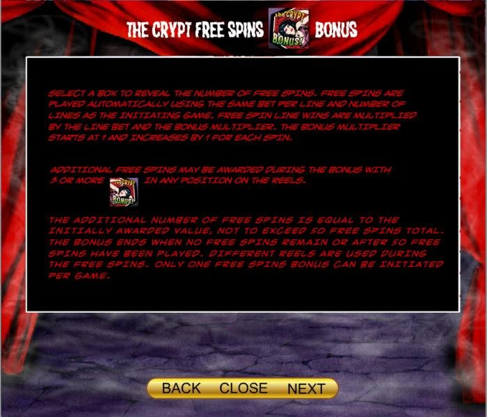 How to play The Crypt Free Spins Bonus - All Online Pokies