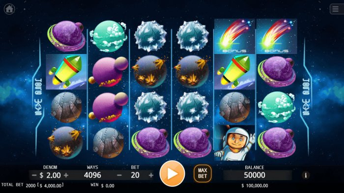All Online Pokies - Main Game Board