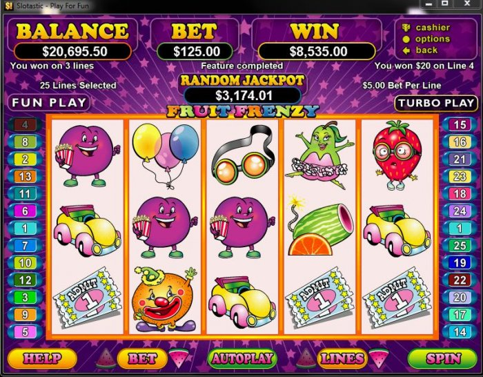 Fruit Frenzy by All Online Pokies