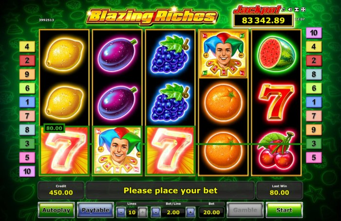 Blazing Riches by All Online Pokies