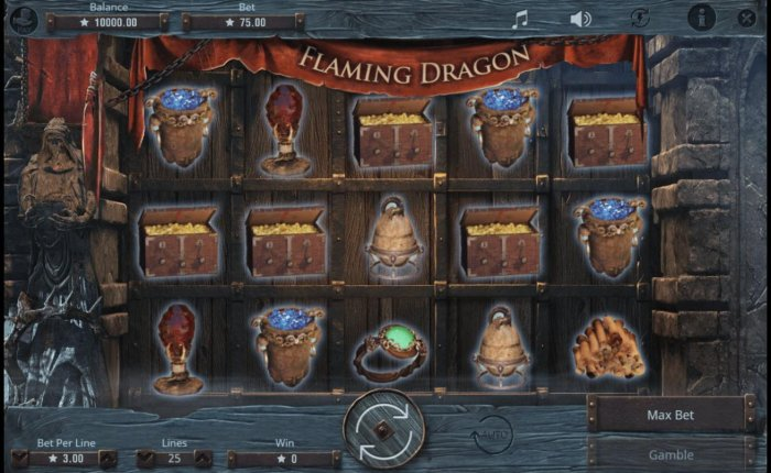 All Online Pokies image of Flaming Dragon
