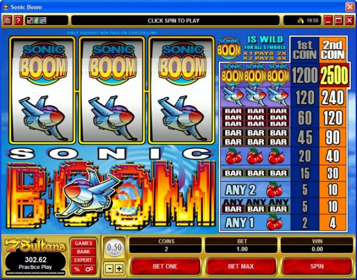 Sonic Boom by All Online Pokies