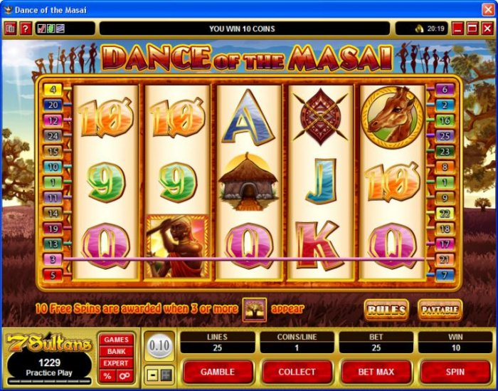 Dance of the Masai by All Online Pokies