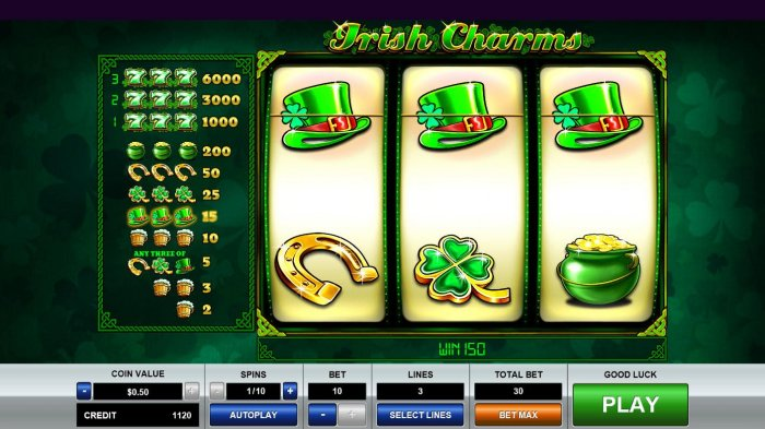 A pair of winning paylines triggers a 150 coin win. by All Online Pokies