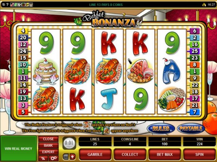 224 coin jackpot triggered by multiple winning paylines by All Online Pokies