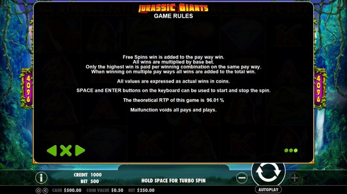 Jurassic Giants by All Online Pokies