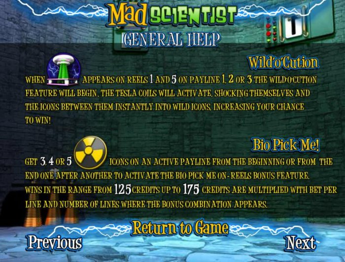Mad Scientist by All Online Pokies