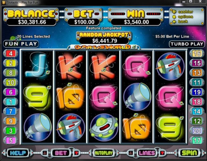 All Online Pokies image of Outta This World