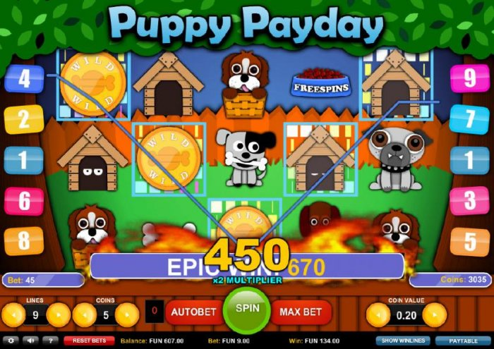 All Online Pokies image of Puppy Payday
