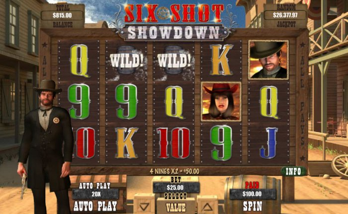 Six Shot Showdown by All Online Pokies