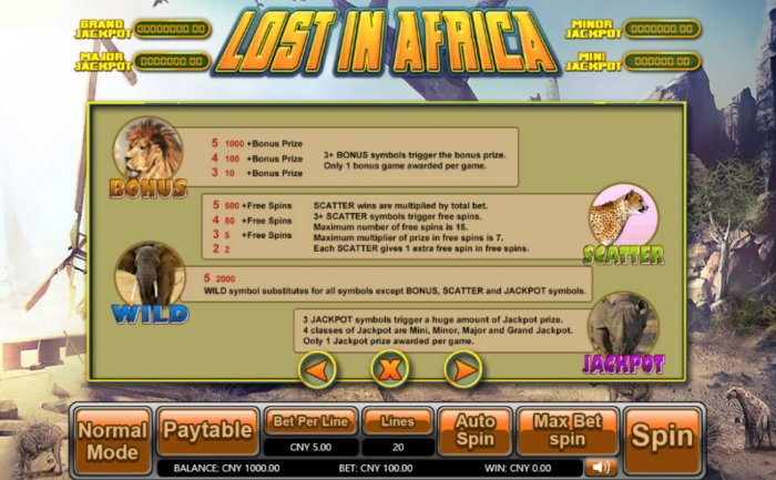 All Online Pokies image of Lost in Africa