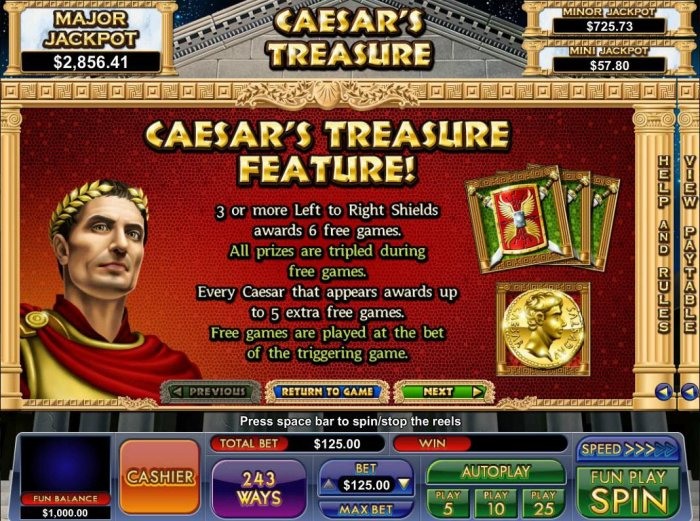 Images of Caesar's Treasure