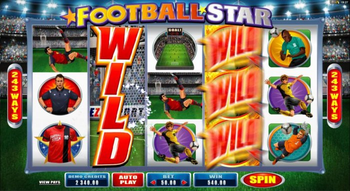 All Online Pokies image of Football Star