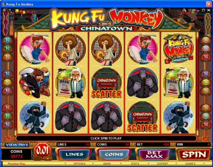 All Online Pokies image of Kung Fu Monkey