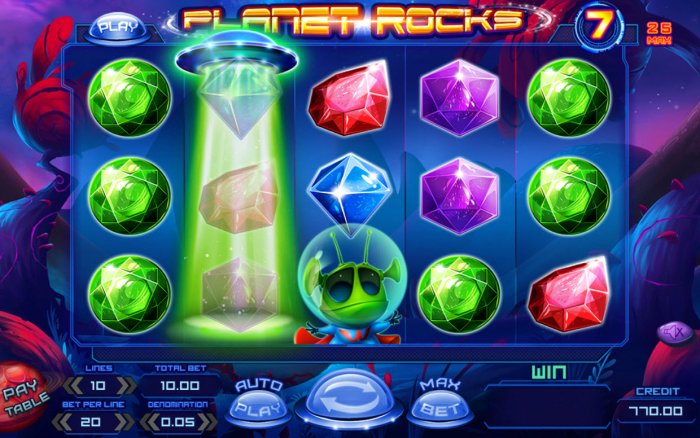 Planet Rocks by All Online Pokies