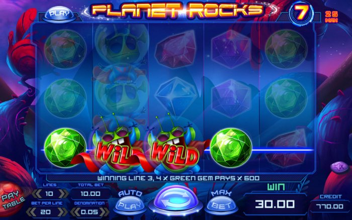 All Online Pokies image of Planet Rocks