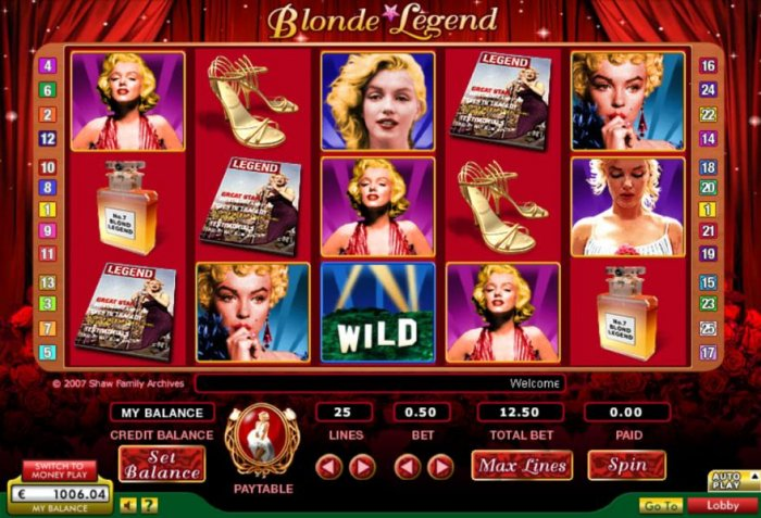 All Online Pokies image of Blonde Legend