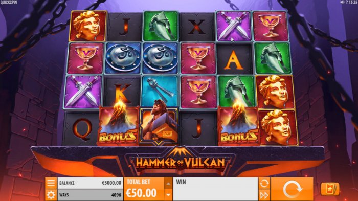 All Online Pokies image of Hammer of Vulcan