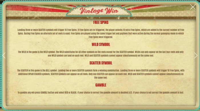 Images of Vintage Win