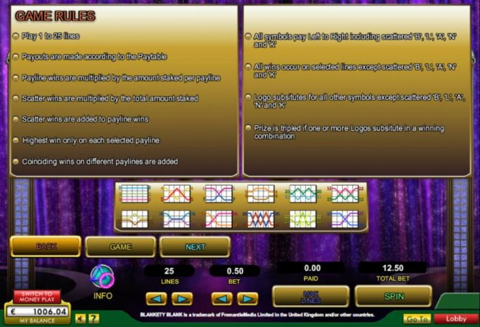 General Game Rules and Payline Diagrams by All Online Pokies