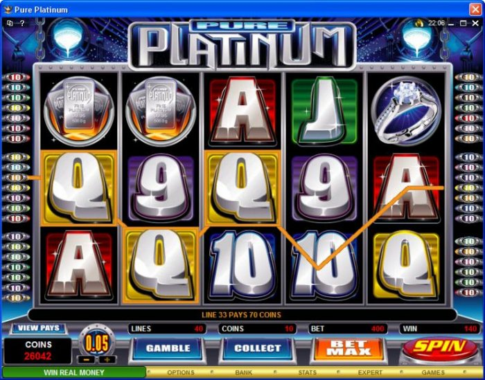 Pure Platinum by All Online Pokies