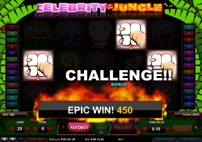 Celebrity in the Jungle by All Online Pokies