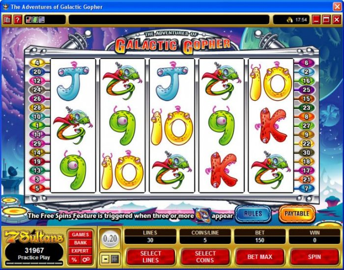 All Online Pokies image of The Adventures of Galatic Gopher