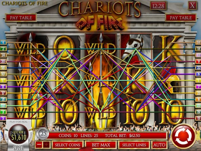 All Online Pokies image of Chariots of Fire