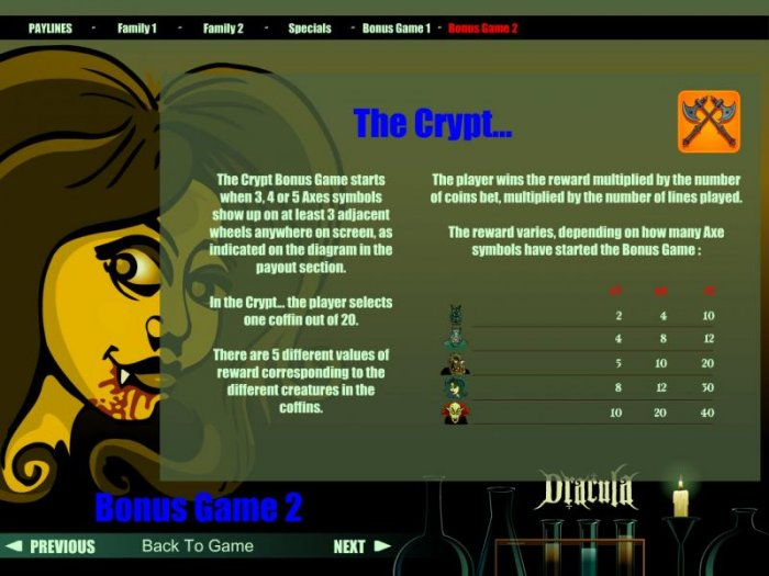 All Online Pokies - The Crypt bonus game rules