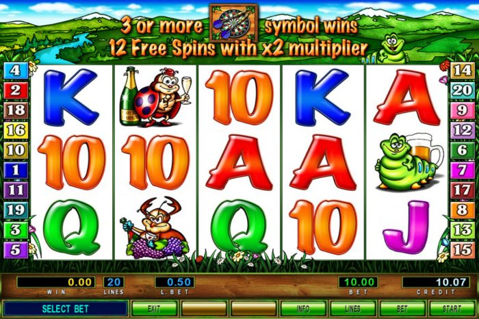 All Online Pokies image of Funny Bugs