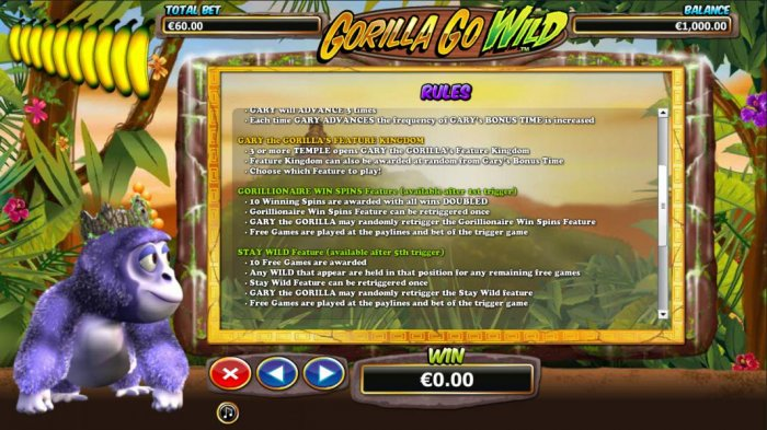 Gorilla Go Wild by All Online Pokies