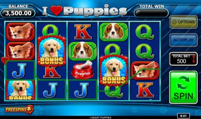 All Online Pokies - Three bonus symbols anywhere on the reels triggers free spins feature