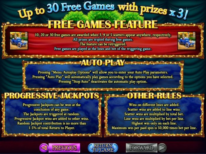 Free Games, Progressive Jackpots and General Game Rules. by All Online Pokies