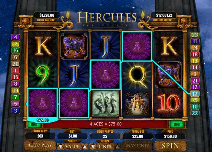 All Online Pokies image of Hercules the Immortal