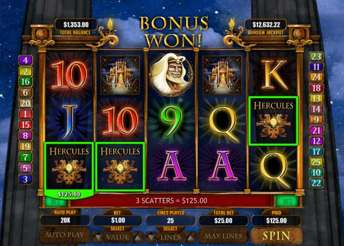 Hercules the Immortal by All Online Pokies