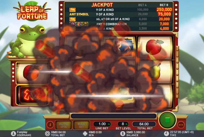 All Online Pokies - Dynamite explodes replacing symbols