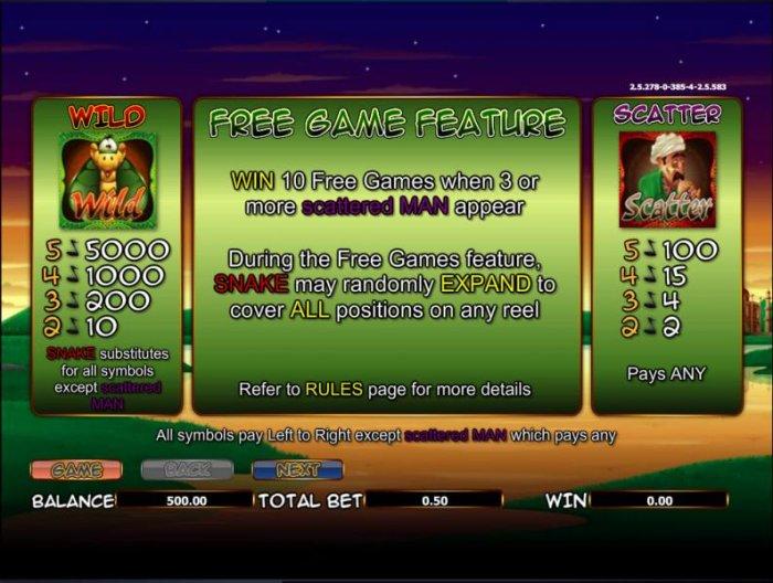 The Snake Charmer screenshot