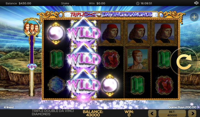 Stacked wilds triggers a 3 of a kind by All Online Pokies